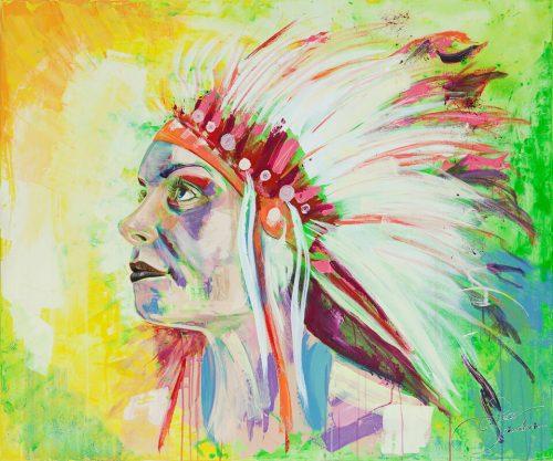 färgglad indian